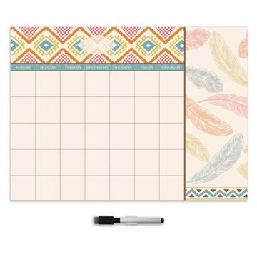 Picture of Tribal Beat Monthly Dry Erase Calendar Decal with Notes