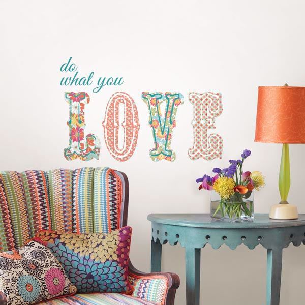 Picture of Do What You Love Wall Quote Decals