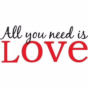 Picture of All You Need is Love - Wall Quotes Wall Decals