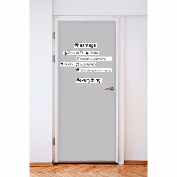 Picture of Hashtag Wall Word Wall Quote Decals