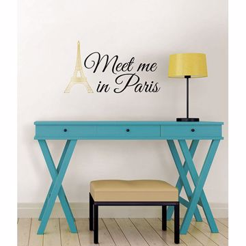 Picture of Meet Me in Paris Wall Quote Decals