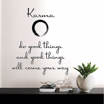 Picture of Karma Wall Quote Decals