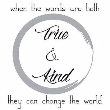 Picture of True and Kind Wall Quote Decals