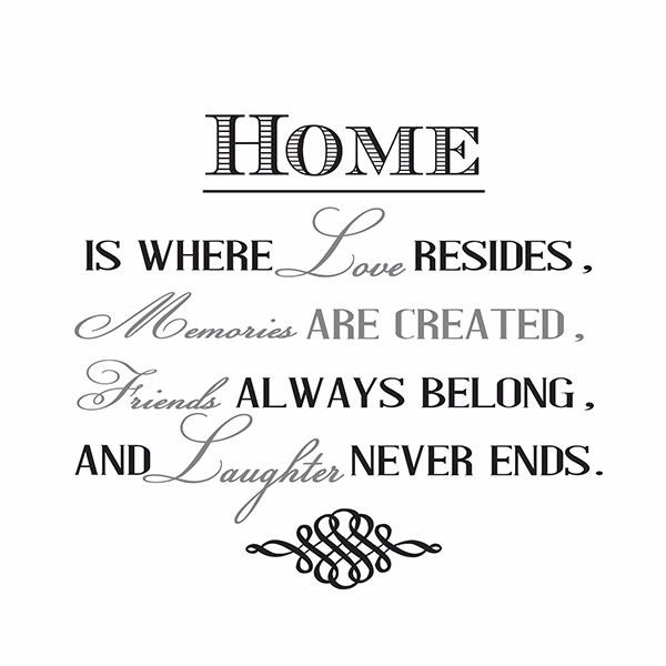 Picture of Home is Where Wall Quote Decals