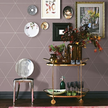 Picture of Twilight Purple Geometric Wallpaper