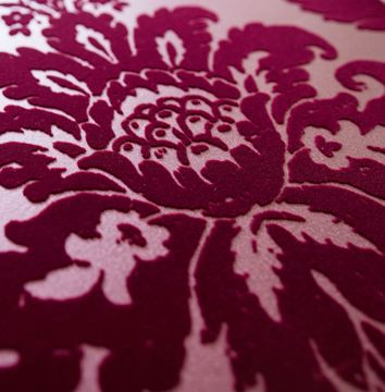 Picture of Shadow Merlot Damask Wallpaper