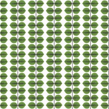 Picture of Berså Green Leaf Wallpaper