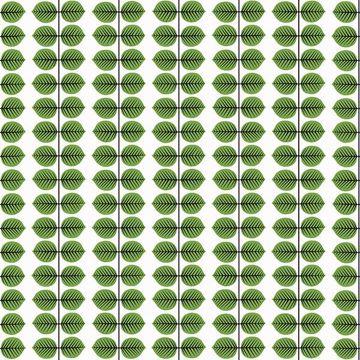 Picture of Berså Green Leaf Wallpaper