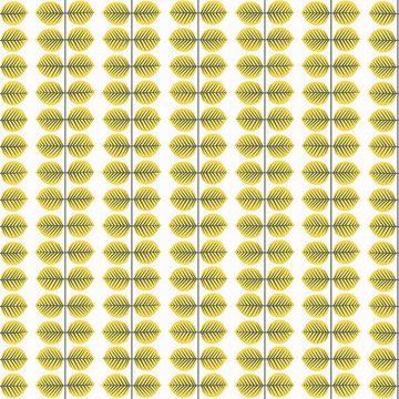 Picture of Berså Yellow Leaf Wallpaper