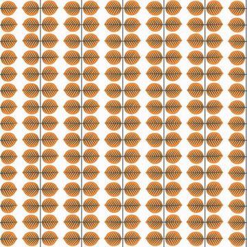 Picture of Berså Orange Leaf Wallpaper