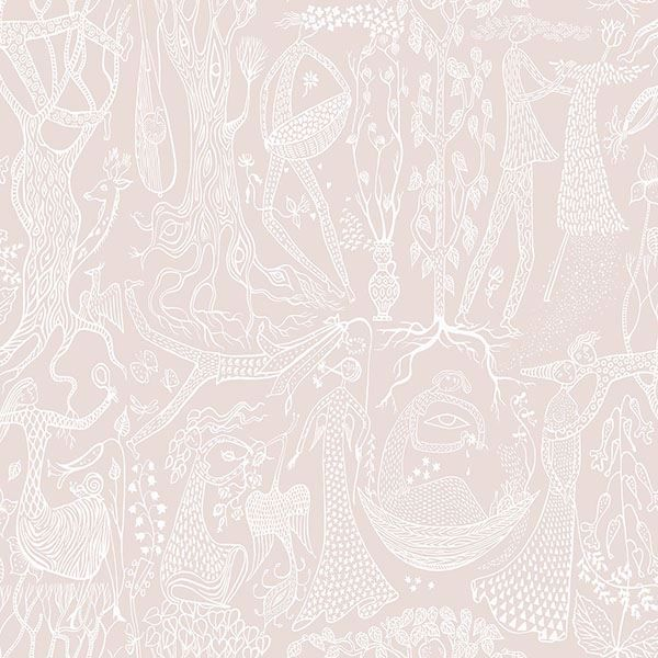 Picture of Poem d'Amour Blush Folk Wallpaper
