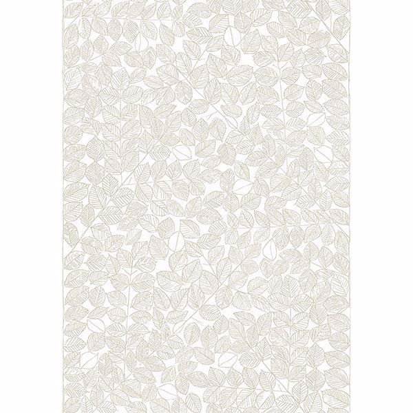 Picture of Romans Beige Leaf Wallpaper