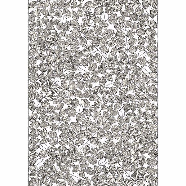 Picture of Romans Cream Leaf Wallpaper