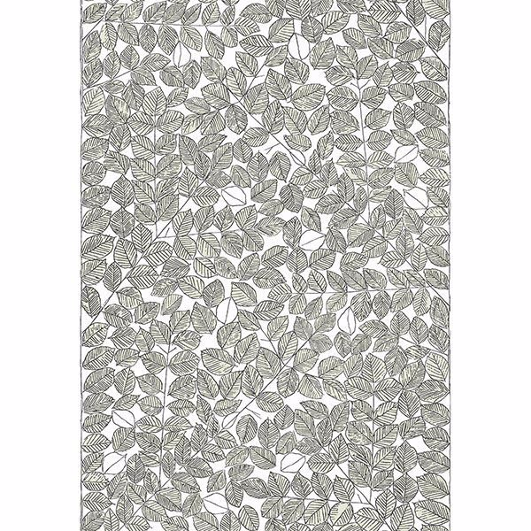 Picture of Romans Light Green Leaf Wallpaper