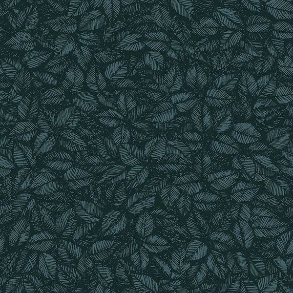 Picture of Amorina Teal Leaf Wallpaper