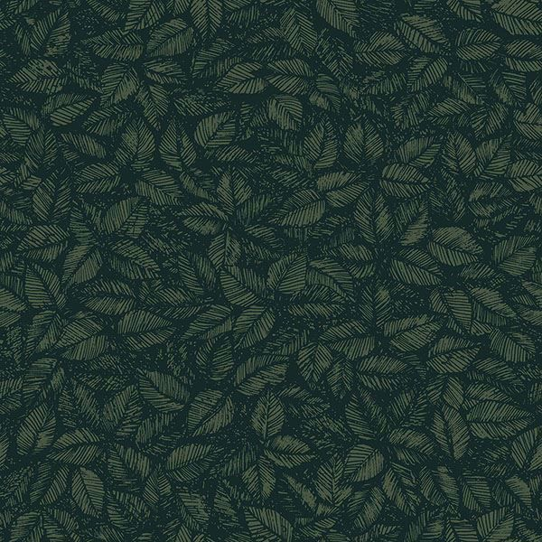 Picture of Amorina Green Leaf Wallpaper