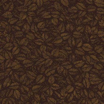 Picture of Amorina Brown Leaf Wallpaper