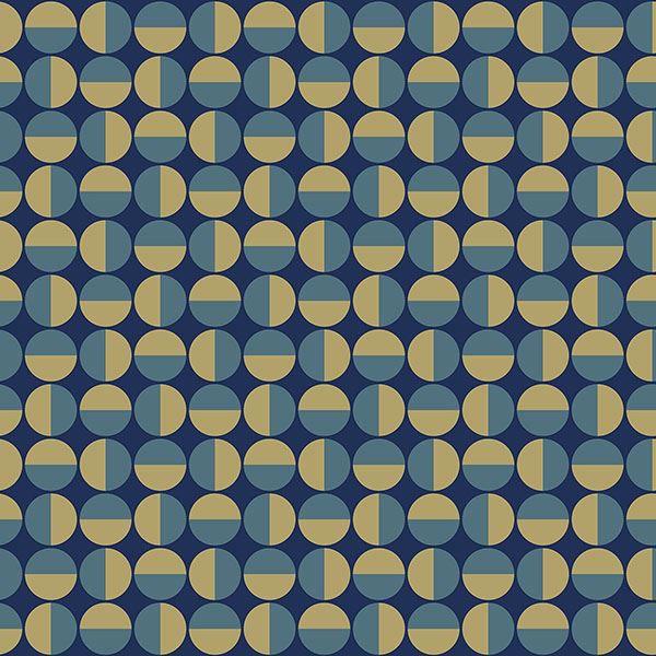 Picture of Vertigo Teal Geometric Wallpaper