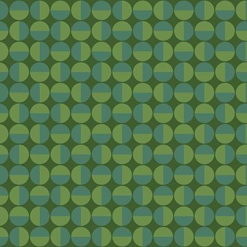 Picture of Vertigo Green Geometric Wallpaper