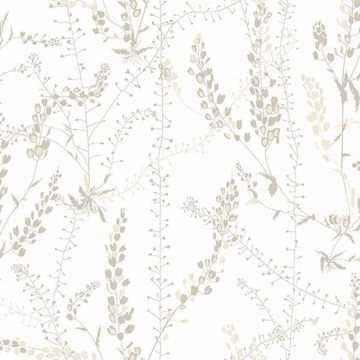 Picture of Bladranker Beige Botanical Wallpaper