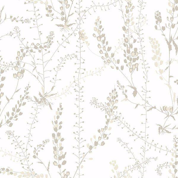 Picture of Bladranker Beige Botanical Wallpaper