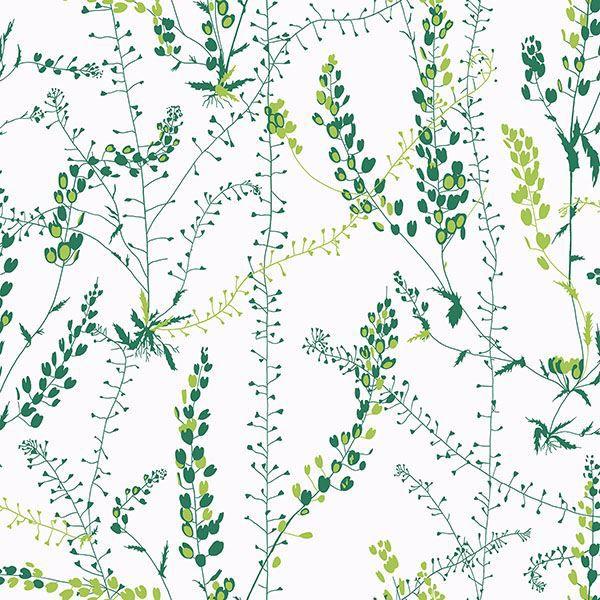 Picture of Bladranker Green Botanical Wallpaper