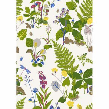Picture of Trollslända Green Botanical Wallpaper