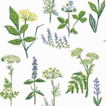 Picture of KÖksväxter Green Floral Wallpaper