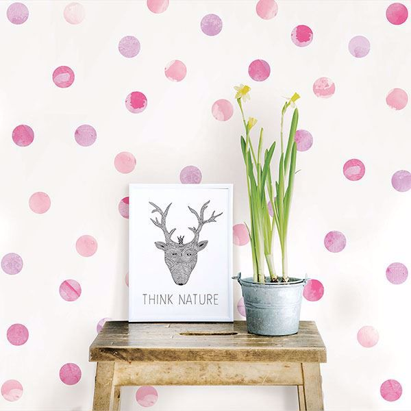 Picture of Watercolor Dots  Wall Art Kit