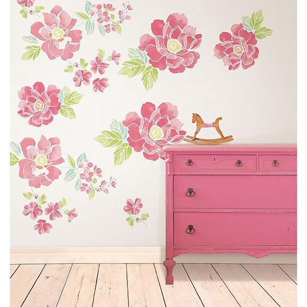 Picture of Sitting Pretty Flowers  Wall Art Kit