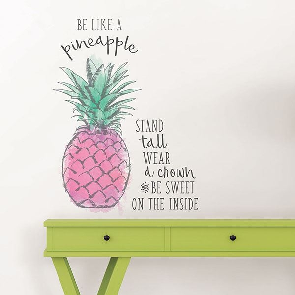 Picture of Be Like a Pineapple  Wall Quote Decals