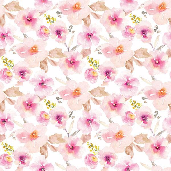 Picture of Pink Flower Adhesive Window Film