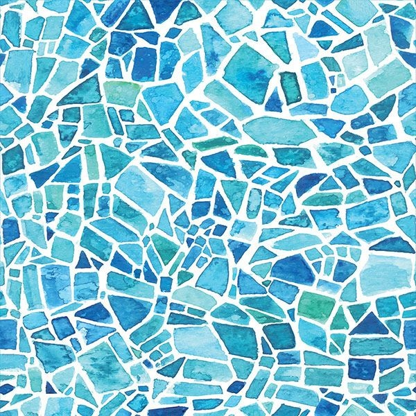Picture of Blue Mosaic Adhesive Window Film