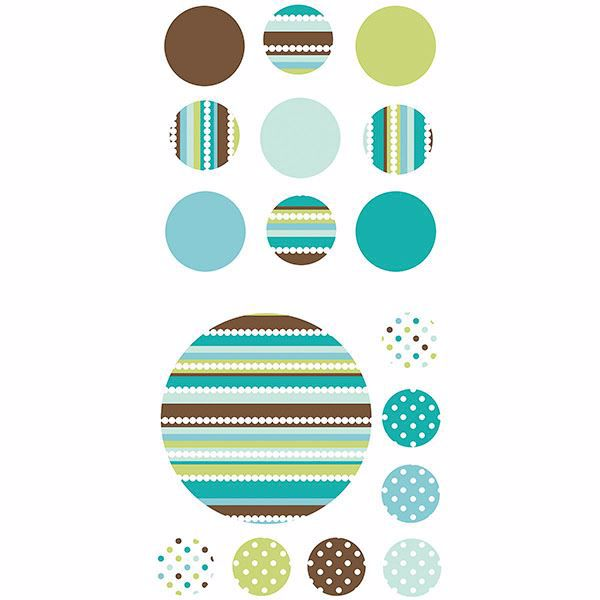 Picture of Aqua and Brown Wall Art Kit