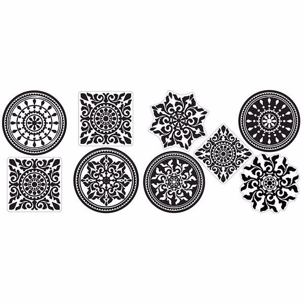 Picture of Black and White Medallion Wall Stickers
