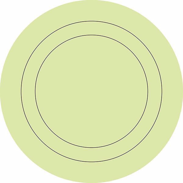 Picture of Pea Pod Die Cut Circle Decals Wall Decals