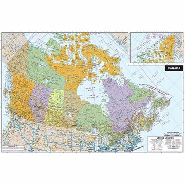 Picture of JPM Canada Dry Erase Map