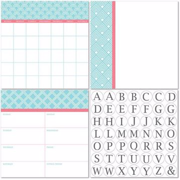 Picture of Chelsea Dry Erase 3pc Monograms - English Dry Erase Calendar Decal Kit