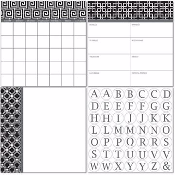 Picture of Kensington Dry Erase 3pc Monograms - English Dry Erase Calendar Decal Kit
