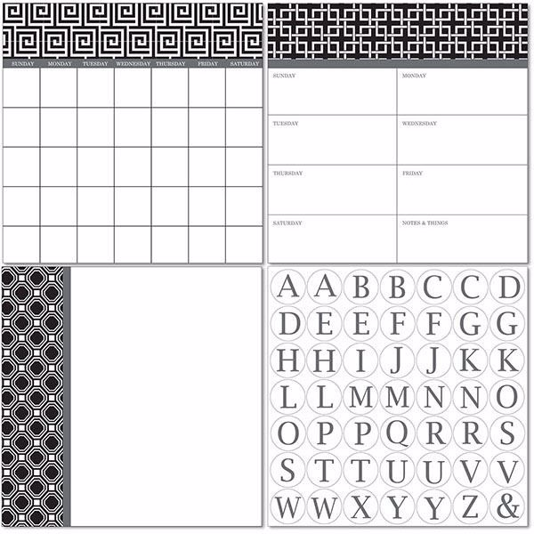 Picture of Kensington Dry Erase 3pc Monograms - English Dry Erase Calendar Decal Kit