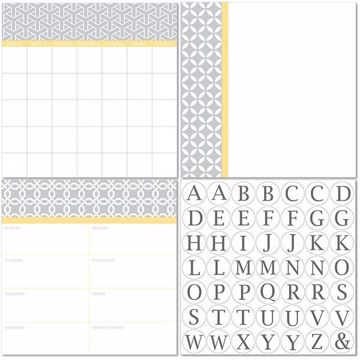 Picture of Mayfair Dry Erase 3pc Monograms - English Dry Erase Calendar Decal Kit
