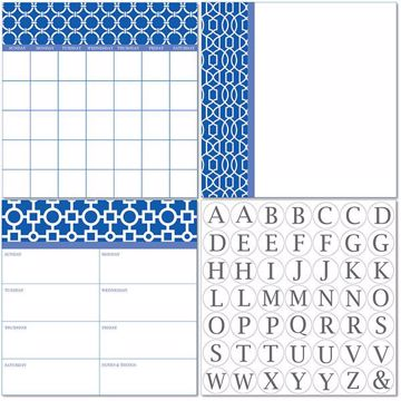 Picture of Soho Dry Erase 3pc Monograms - English Dry Erase Calendar Decal Kit