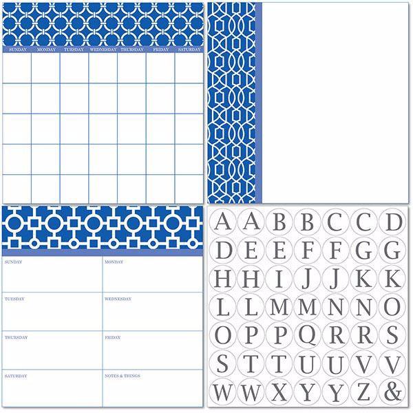 Picture of Soho Dry Erase 3pc Monograms - English Dry Erase Calendar Decal Kit