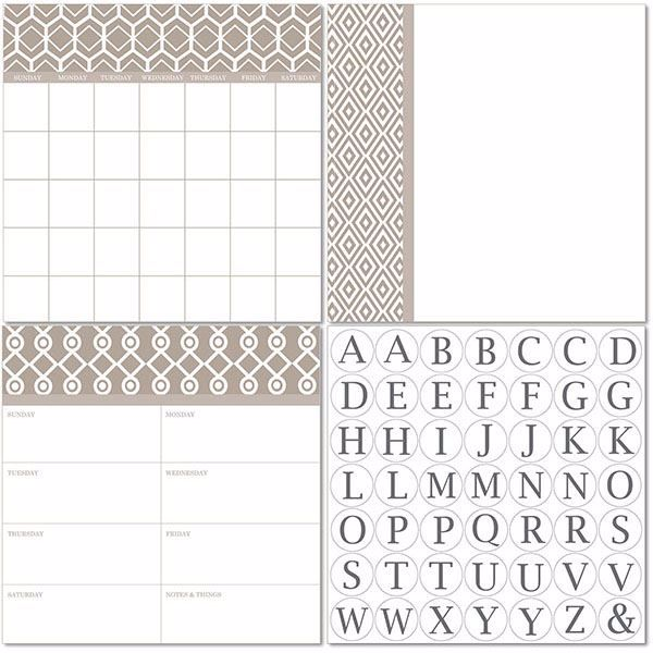Picture of Camden 3pc Monograms - English Dry Erase Calendar Decal Kit