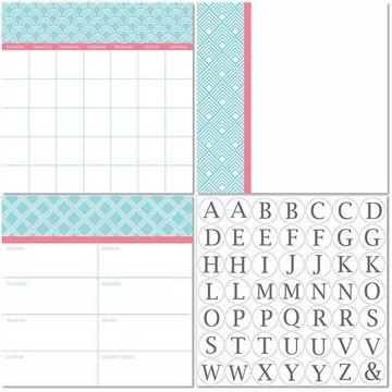 Picture of Chelsea Dry Erase 3pc Monograms - Bilingual Dry Erase Calendar Decal Kit