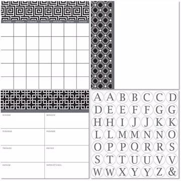 Picture of Kensington Dry Erase 3pc Monograms - Bilingual Dry Erase Calendar Decal Kit