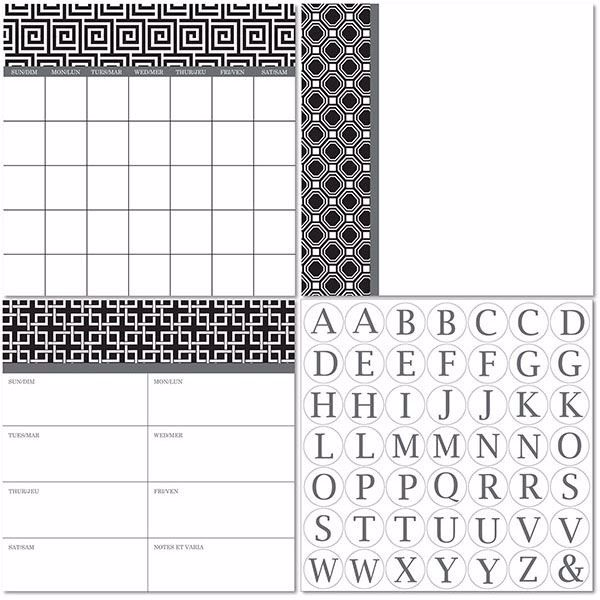 Picture of Kensington Dry Erase 3pc Monograms - Bilingual Dry Erase Calendar Decal Kit