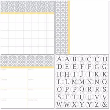 Picture of Mayfair Dry Erase 3pc Monograms - Bilingual Dry Erase Calendar Decal Kit