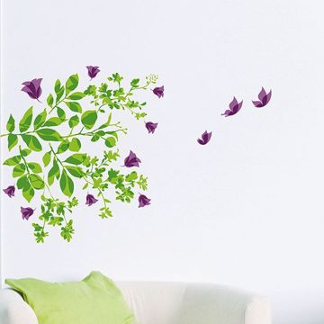 Picture of Leaves & Butterflies  Wall Decals