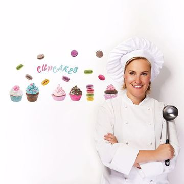 Picture of Cupcakes & Macarons  Wall Decals